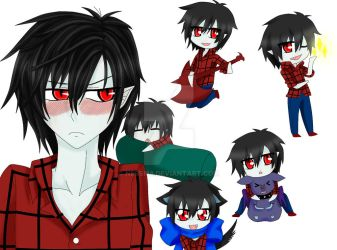 Marshall lee y chibis by nessi98