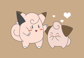 Clefairy + Cleffa by TK421LovesYou