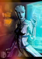 Liara T'Soni by wakDoOm