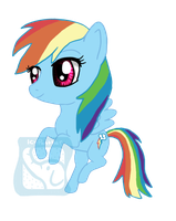 Chibi Rainbow Dash by IcyPanther1
