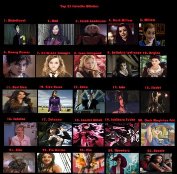 Top 25 Favorite Witches by AvatarLogan