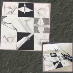 Crane Composition Drawing  by Live-My-Way