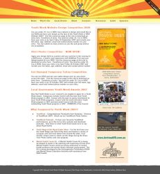 National Youth Week Web Design by rotaris