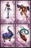 Mazinger Z_cards SERIES F by FranciscoETCHART
