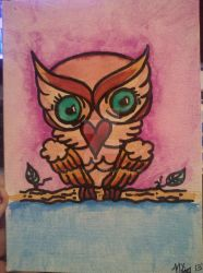 emerald eyed owl by bluwater87