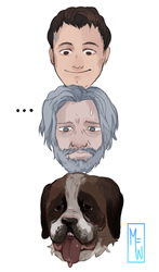 [Detroit: Become Human] Two Dogs and One Human by M-F-W