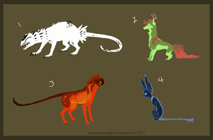 Mixed Creature Adopts 48 [Point Option Added!] by Adopt-Monstar