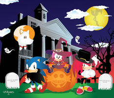 Happy Halloween from Sonic and friends! by Linkabel32