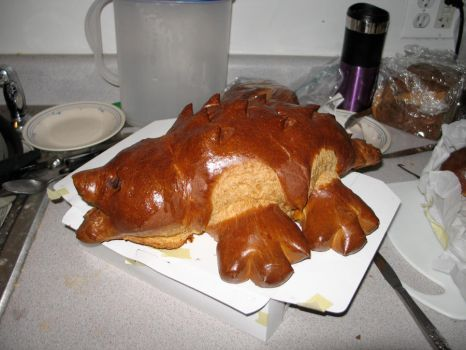 Alligator shaped bread 2 by Sumrlove