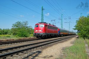 DB 110 491-8 with a special train in Hegyeshalom by morpheus880223