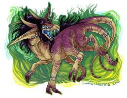 Commission.. Feral.Hexadragon by guardianofire