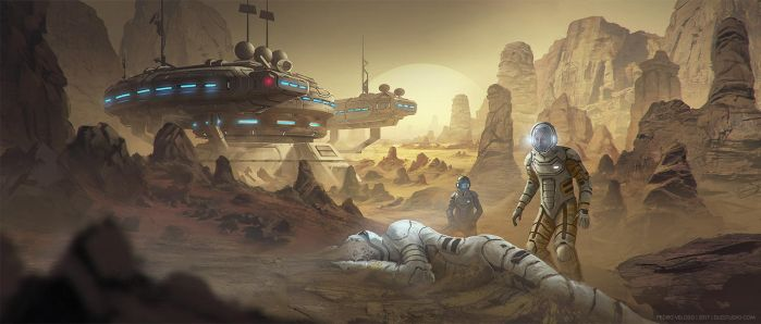Planetary Outpost by Dlestudio