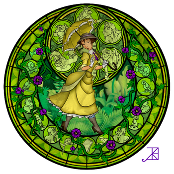 Stained Glass: Jane Porter by Akili-Amethyst
