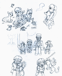 One Little Spark- Rachel and Algar Rough Sketches by WishExpedition23