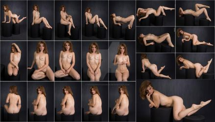 Stock: Nathalia Art Nude Stool Poses - 22 Images by stockphotosource
