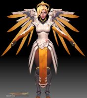 Mercy 3d model fanart 4 by itzaspace