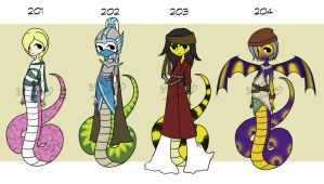 Adoptable: Character: 201-204 (closed) by Biological-Solutions