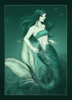 Mermaid - old stuff colored by bananacosmicgirl