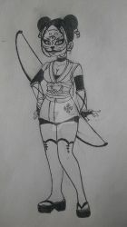 Hana chi Itos fighting outfit  by SidnaTheDragon1