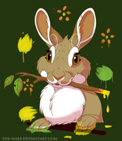 Animal Artists: Rabbit by TheVerdantHare