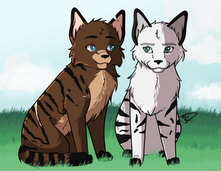 Tigerblaze and Stormclaw - Contest Entry by drawingwolf17