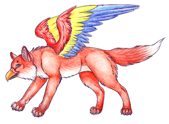 fox gryphon by Maquenda
