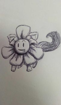 Howdy, I'm Flowey, Flowey the Flower cat by SageHedgehog