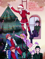 Ouran X-mas by naoguiarts