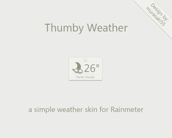 Thumby Weather Rainmeter by murasaki55