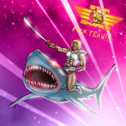 Star Sharks F Yeah by BluDrgn426
