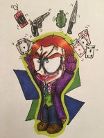 Chucky as Joker by Mika-Raccoon