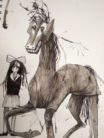 Picasso's Fucked Up Horse by wingedwolf94