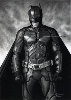 The Batman - Drawing by michellebrown