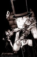 Professor Layton and the KotR by nattherat