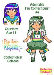 C.C. Adoptable Revealed: Confectionist Celadon by Magical-Mama