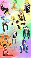 Vocaloid poses by Hhell
