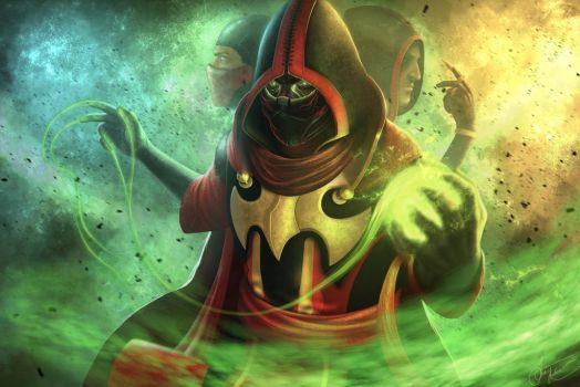 Ermac (the new skin for MK X) by AndreiKolosov