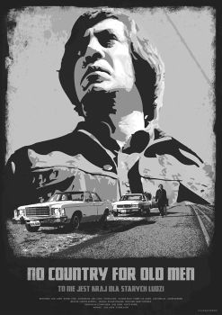 NO COUNTRY FOR OLD MEN - movie poster by P-Lukaszewski