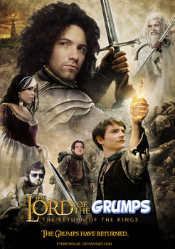THE LORD OF THE GRUMPS - Game Grumps Movie Poster by EyebrowScar