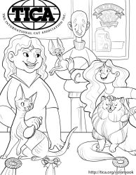 TICA Cat Coloring Book Page 3 by kiki-doodle
