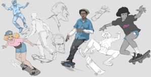 Warmup Noodle Skaters by ifesinachi