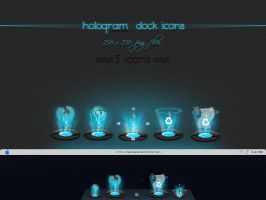 Hologram Dock icons by nishad2m8