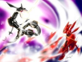 Rayquaza - shiny - vs. Scizor