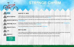 Strange Charm Website by Gingitsune-Lady-Fox