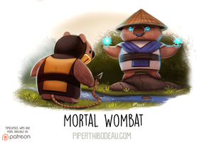 Daily Paint 1631. Mortal Wombat by Cryptid-Creations