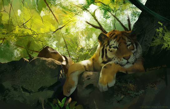 A Quiet Rest - EmMelody - Study Painting Day 10 by NesoKaiyoH