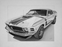 1969 Mustang Boss 302 by industrialrevelation