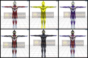 Tiga Texture Pack for MMD by Fangzero54 by FangZero54