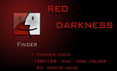 red darkness finder icon by cooliojulio