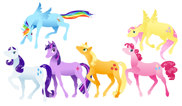 My Little Pony Parade by Flonography